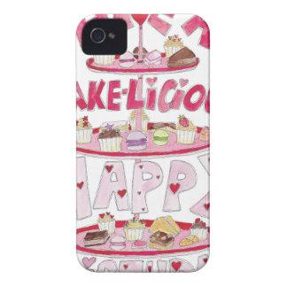 Cakelicious Happy Birthday iPhone 4 Case-Mate Case