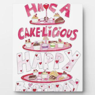 Cakelicious Happy Birthday Plaque