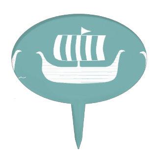 Cakepick de las naves de Viking Figuras Para Tartas