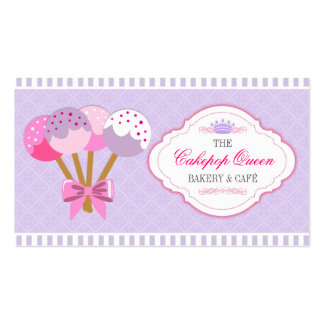 Cakepop Queen Bakery Lavender and Fuchsia Business Card