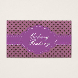 Cakery Bakery Template Business Card