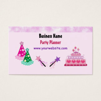 Cakes and Hats Party Planner Business Card