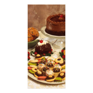 Cakes and sweets rack card