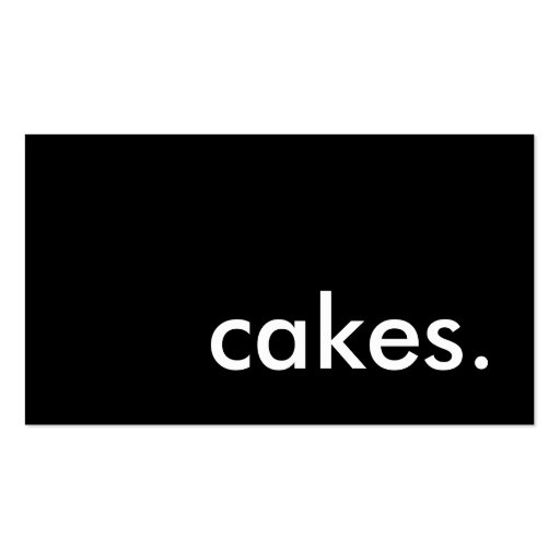 cakes. (color customizable) business card