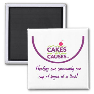 "Cakes for Causes ""Community"" Magnet"