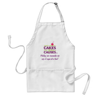 Cakes for Causes Logo Apron