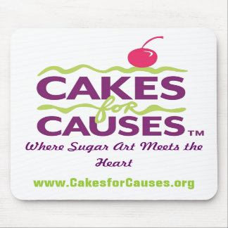 Cakes for Causes Mousepad White