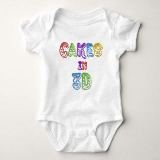 Cakes in 3D logo 2 Baby Bodysuit