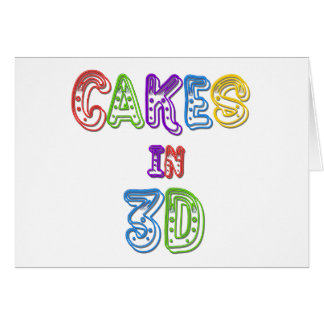 Cakes in 3D logo 2 Card