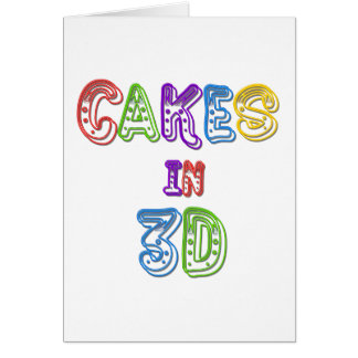 Cakes in 3D logo 2 Greeting Card