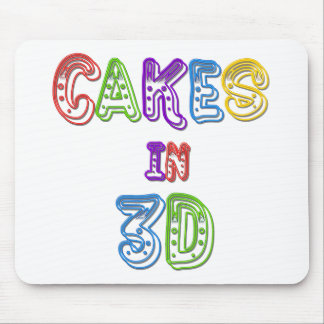 Cakes in 3D logo 2 Mouse Pad