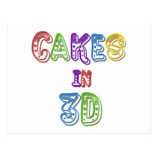 Cakes in 3D logo 2 Postcard