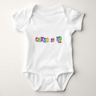 Cakes in 3D logo 4 Baby Bodysuit