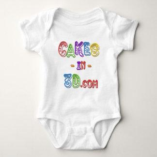 Cakes in 3D logo Baby Bodysuit
