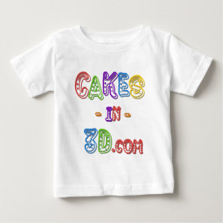 Cakes in 3D logo Baby T-Shirt