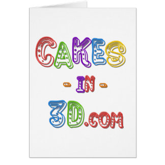 Cakes in 3D logo Card