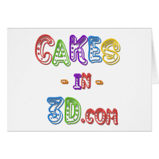 Cakes in 3D logo Cards