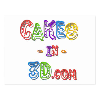 Cakes in 3D logo Postcard