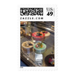 Cakes in Show Window Postage Stamps