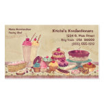 Cakes, Pies, Cookies, Ice Cream Business Card