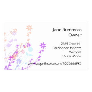 Cakes & Sweets business card