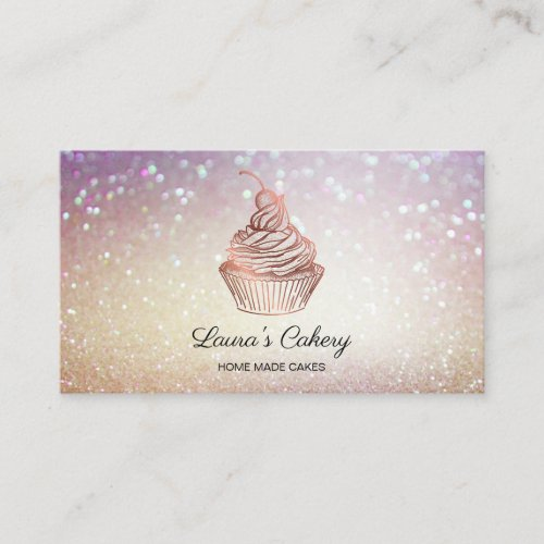 Cakes  Sweets Cupcake Home Bakery Rustic Vintage Business Card