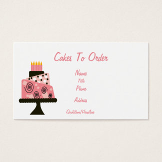 Cakes to Order Business Card