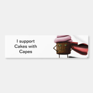 Cakes With Capes Car Bumper Sticker