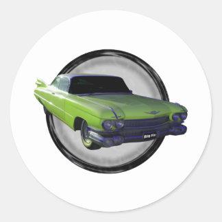 Cal 1959 de Cadillac Pegatina Redonda