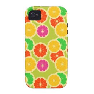 Cal anaranjada Grapefr del limón del caso de Case-Mate iPhone 4 Fundas