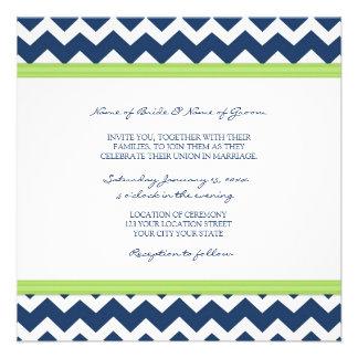 Cal azul marino Chevron de las invitaciones del bo Anuncios