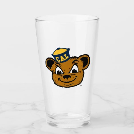 Cal Bear Mascot Glass