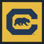 """Cal Blue C With Bear Faux Canvas Print<br><div class=""""desc"""">Check out these new UC Berkeley designs! Show off your Cal Bear pride with these new UC Berkeley products. These make perfect gifts for the Bears student, alumni, family, friend or fan in your life. All of these Zazzle products are customizable with your name, class year, or club. Go Bears!...</div>"""