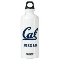 Cal Blue Script Aluminum Water Bottle