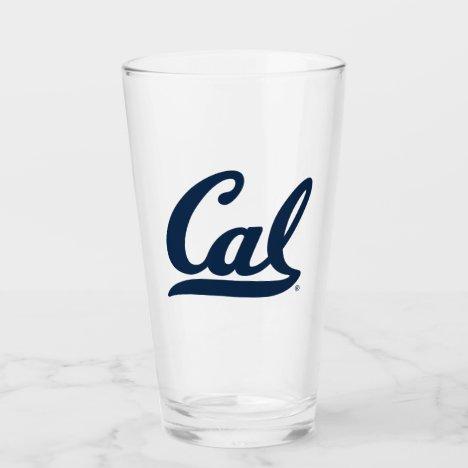 Cal Blue Script Glass