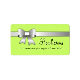 cal de la etiqueta de la plata 311-Bow-Licious Etiqueta De Dirección