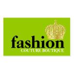 Cal de moda intrépida de la tiara del boutique 311 tarjeta de negocio