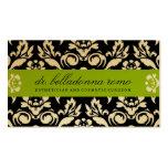Cal de oro del damasco de 311 belladonas tarjetas de visita