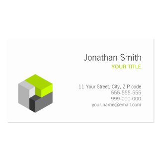 cal del cubo 3D/tarjeta de visita gris