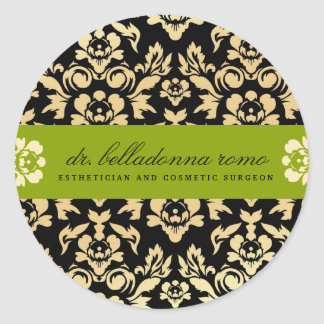 Cal del damasco de 311 belladonas pegatina redonda