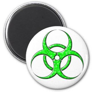 Cal del símbolo del Biohazard Imán Redondo 5 Cm