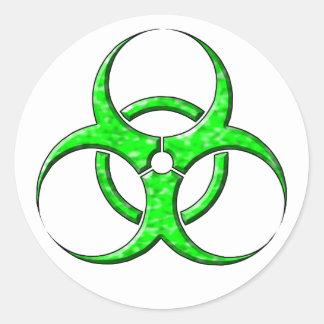 Cal del símbolo del Biohazard Pegatina Redonda