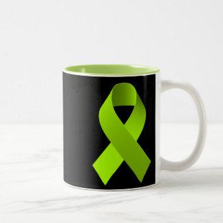 Cal del verde de la cinta de la ayuda de la taza de dos tonos