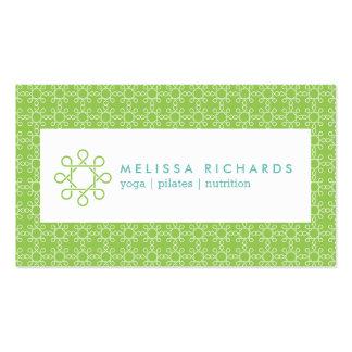 Cal/diseño tejido menta para la aptitud y la yoga tarjetas de visita