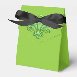 Cal elegante de la flor de lis cajas para detalles de boda