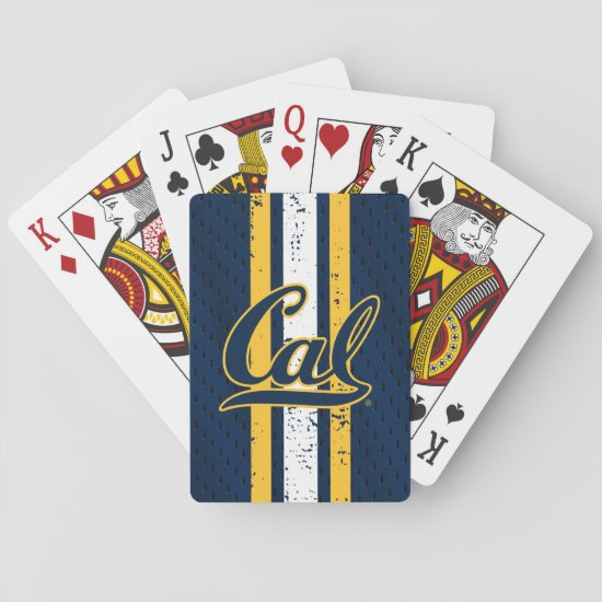 Cal Football Jersey Playing Cards