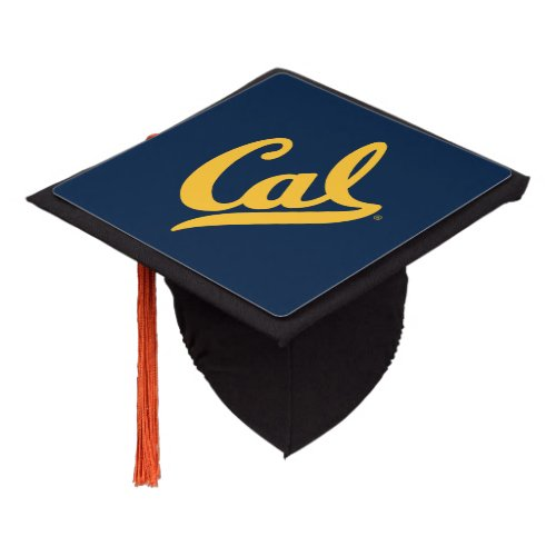 Cal Gold Script Graduation Cap Topper