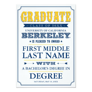 Cal Graduation Announcement