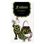 Cal moderna de la cebra del leopardo de la bota de plantilla de tarjeta personal