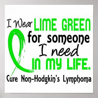 Cal para alguien necesito linfoma Non-Hodgkin Póster